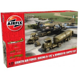 Classic Kit diorama A12010 - Eighth Air Force: Boeing B-17G™ & Bomber Re-supply Set (1:72)