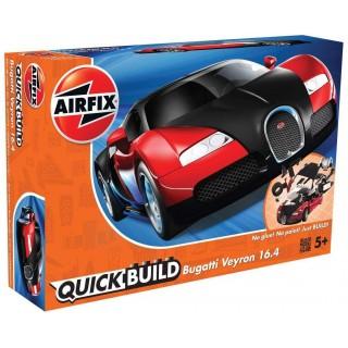 Quick Build auto J6020 - Bugatti Veyron - červená