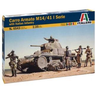 Model Kit tank 6543 - M13/40 with Bersaglieri (1:35)
