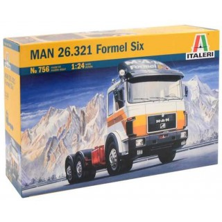 Model Kit truck 0756 - MAN 26.321 FORMEL SIX (1:24)