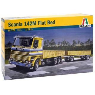 Model Kit truck 0770 - SCANIA 142M FLAT BED (1:24)