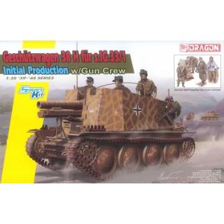 Model Kit tank 6857 -  Geschützwagen 38 H für s.IG.33/1  Initial Production (Smart Kit) (1:35)