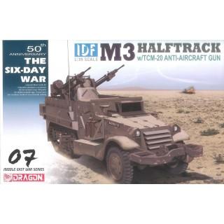 Model Kit military 3586 - IDF M3 Halftrack w/TCM-20 Anti-Aircraft Gun (1:35)