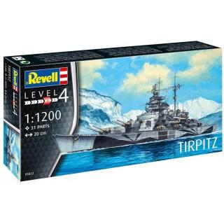 Plastic ModelKit loď 05822 - Tirpitz (1:1200)