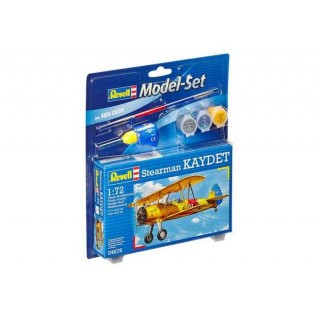 ModelSet letadlo 64676 - Model Set Stearman Kaydet (1:72)