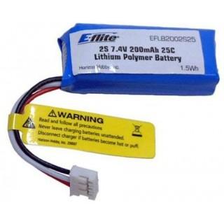 E-Flite LiPol 7.4V 200mAh 25C JST-PH