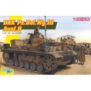 Model Kit tank 6901 - DAK Pz.Bef.Wg.III Ausf.H (Smart Kit) (1:35)