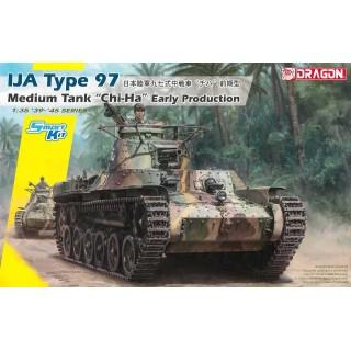 """Model Kit tank 6870 - IJA Type 97 Medium Tank """"Chi-Ha"""" Early Production (Smart Kit) (1:35)"""