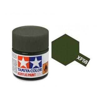 Tamiya Color XF-58 Flat Olive Green 10ml
