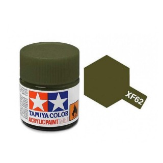 Tamiya Color XF-62 Flat Olive Drab 10ml