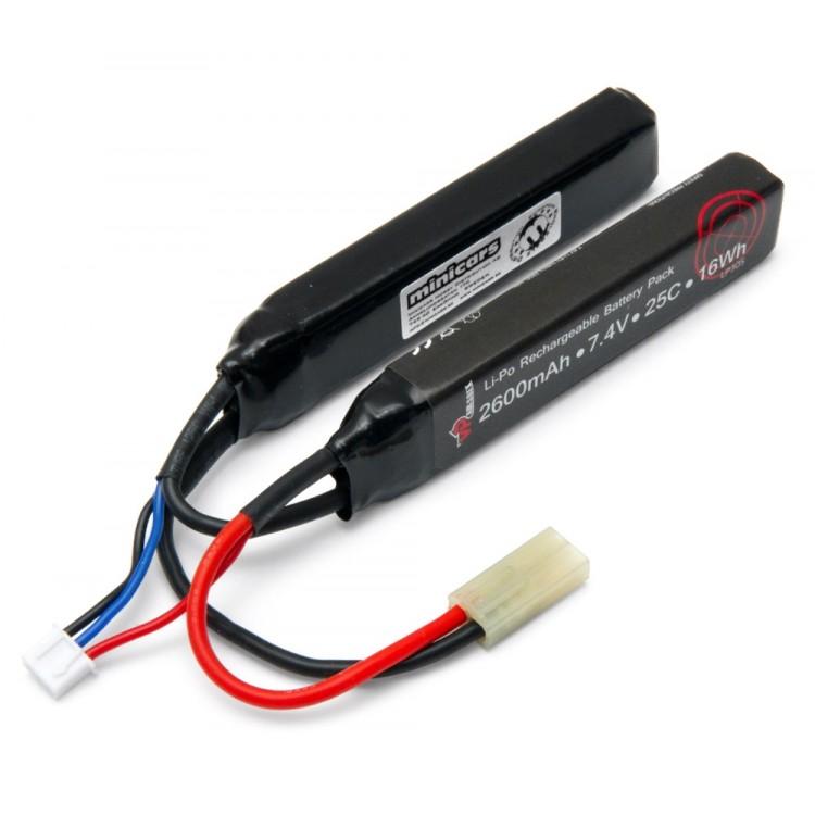 Li-Po Battery 2S 7,4V 2600mAh 25C Split Airsoft