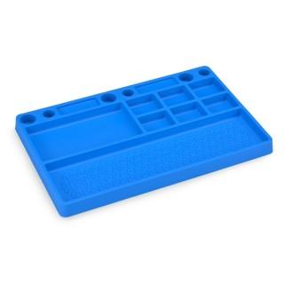 Gumová pracovní podložka/přihrádka, modrá