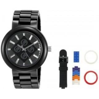 LEGO hodinky pro dospělé 4 Stud Brick Black/Chrome
