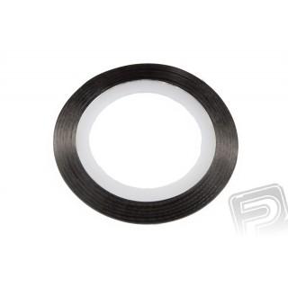 Ozdobná páska černá 0,4 mm