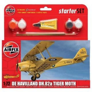 Starter Set letadlo A55115 - de Havilland D.H.82a Tiger Moth (1:72)
