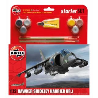 Starter Set letadlo A55205 - Hawker Harrier GR1 (1:72)