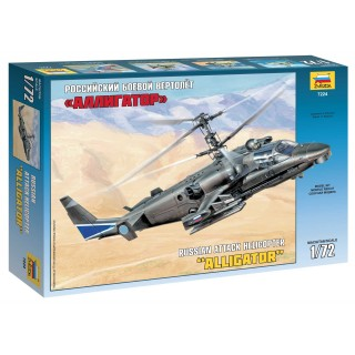 "Model Kit vrtulník 7224 - Kamov Ka-52 ""Alligator"" Combat Helicopter (1:72)"