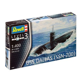 Plastic ModelKit ponorka 05067 - US Navy Submarine USS Dallas (1:400)