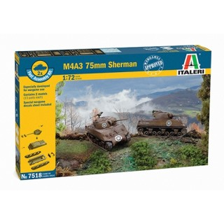 Fast Assembly tanky 7518 - M4A3 75 mm SHERMAN (1:72)