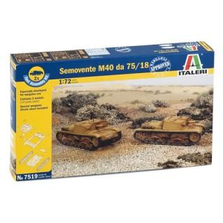 Fast Assembly military 7519 - SEMOVENTE M40 da 75/18 (1:72)