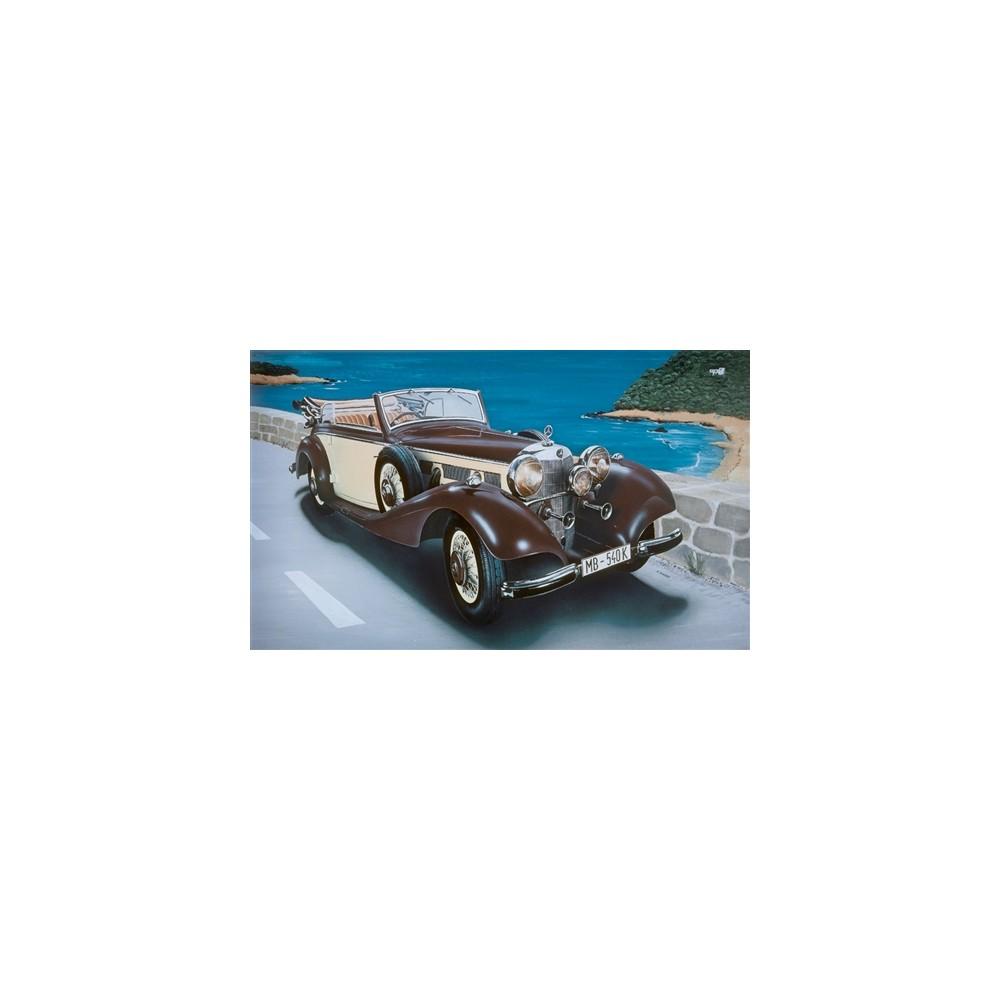 Model kit auto 3701 mercedes benz 540k 1 24 rcsv for Mercedes benz car care kit
