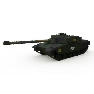 R/C Tank British MBT Challenger 1 Forest 1/72