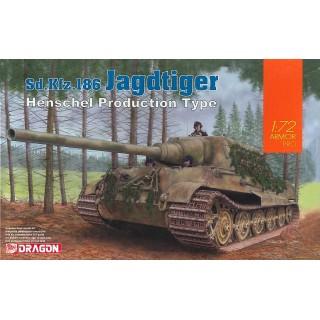 Model Kit tank 7563 - Sd. Kfz. 186 Jagdtiger Henschel Type (1:72)