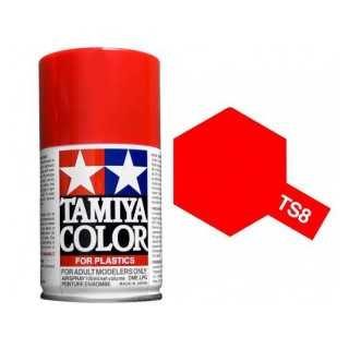 Tamiya Color TS 8 Italian Red Spray 100ml