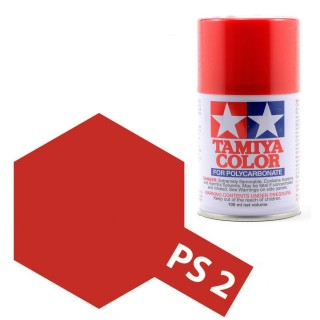 Tamiya Color PS-2 Red Polycarbonate Spray 100ml