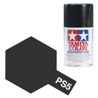 Tamiya Color PS-5 Black Polycarbonate Spray 100ml