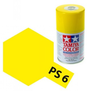 Tamiya Color PS-6 Yellow Polycarbonate Spray 100ml