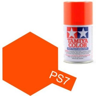 Tamiya Color PS-7 Orange Polycarbonate Spray 100ml
