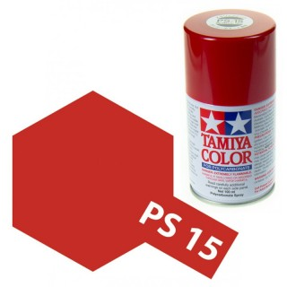 Tamiya Color PS-15 Metallic Red Polycarbonate Spray 100ml