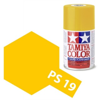 Tamiya Color PS-19 Camel Yellow Polycarbonate Spray 100ml