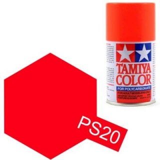 Tamiya Color PS-20 Fluorescent Red Polycarbonate Spray 100ml