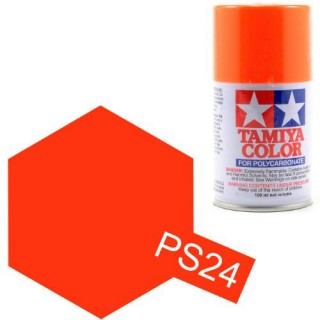 Tamiya Color PS-24 Flourescent Orange Polycarbonate Spray 100ml