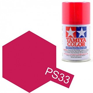 Tamiya Color PS-33 Cherry Red Polycarbonate Spray 100ml