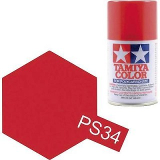 Tamiya Color PS-34 Bright Red Ferrari Polycarbonate Spray 100ml