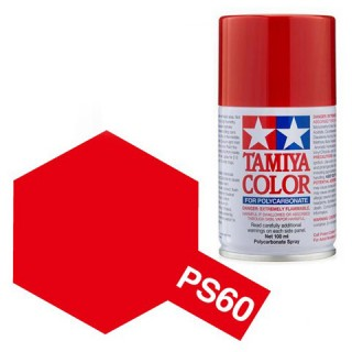 Tamiya Color PS-60 Bright Mica Red Polycarbonate Spray 100ml