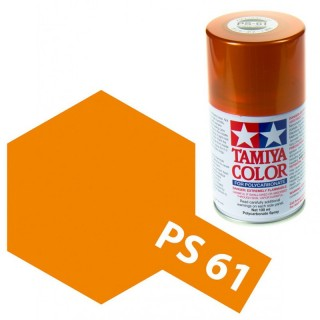 Tamiya Color PS-61 Metallic Orange Polycarbonate Spray 100ml