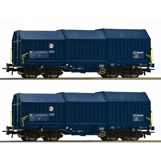 Set dvou krytých nákladních vagónů s teleskopickou střechou, ZSSK