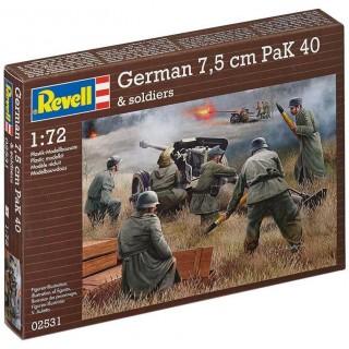 Plastic ModelKit figurky 02531 - German 7,5 cm PaK40 & soldiers (1:72)
