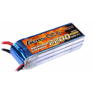 Gens ace 2200mAh 11.1V 25C 3S1P Lipo Battery Pack B-25C-2200-3S1P