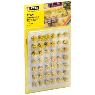 """Travní trsy XL """"Kvetoucí"""", žluté, 12mm"""