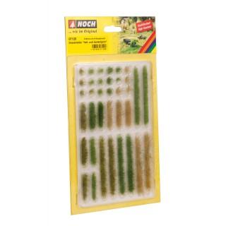 Travní proužky, trsy, tmavě a světle zelené, 6mm