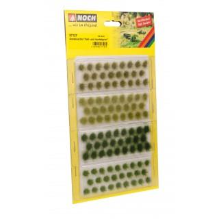 Travní trsy, tmavě a světle zelené, 6mm