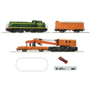 Digitální set Z21 - jeřábový vlak s dieselovou lokomotivou, RENFE