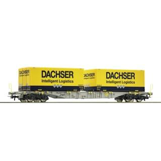 "ROCO Kontejnerový vagón ""Dachser"", AAE"