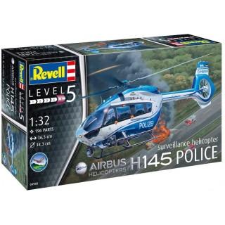 """Plastic ModelKit vrtulník 04980 - H145 """"Police"""" (1:32)"""
