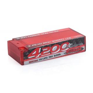 P5-HV Real Shorty LCG GRAPHENE 4200mAh Hardcase Battery - 7.6V LiPo - 120C/60C